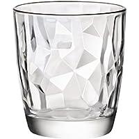 SET 6 BICCHIERI BICCHIERE trasparenti ACQUA 30 cl DIAMANTATI linea Bormioli Diamond cod.9943
