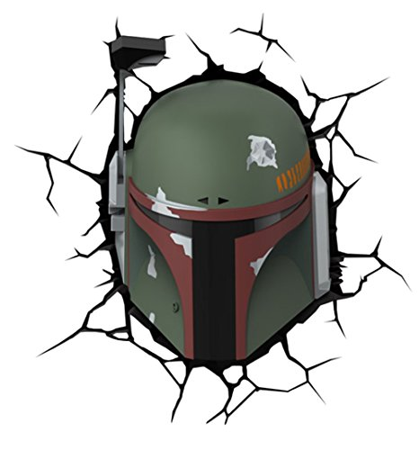 """Price comparison product image Star Wars """"Boba fett head"""" 3D LED Light with Remote"""