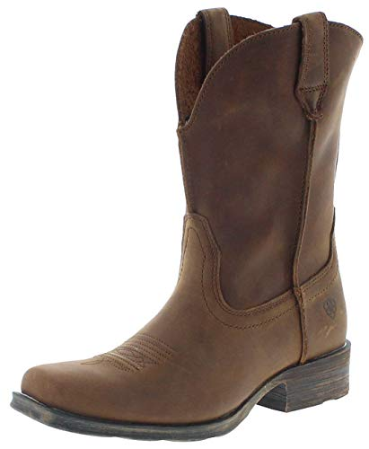 Ariat Damen Cowboy Stiefel 17326 Rambler Westernreitstiefel Lederstiefel Braun 40 EU - 5/4 Western Leder