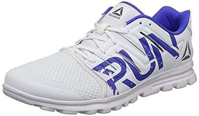 Reebok Men's Ultra Speed 2.0 White/Acid Blue Running Shoes-10 UK/India (44.5 EU) (11 US) (CN4262)