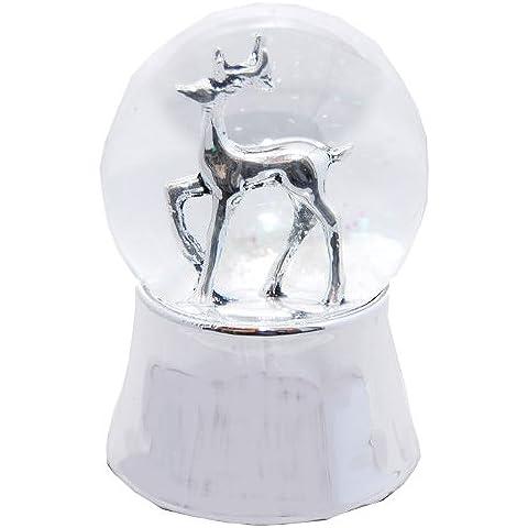 20027 Bola de nieve navidad Capreolus capreolus con musica medida 140 mm