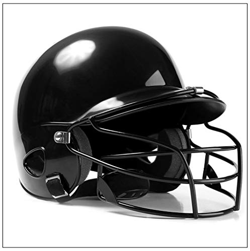 LXXL Sporting Goods Softball Helm, Jugend und Kinder Erwachsene Baseball und Softball Helm Multicolor Gürtel Maske Outdoor-Sport ABS-Material,Black (Kinder Softball-helm)