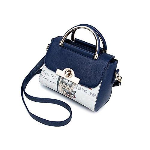Pacchetto di personalità di moda estate, versione coreana dello zaino del sacchetto di spalla, borse selvaggi, borse ( Colore : Vino rosso ) Blu