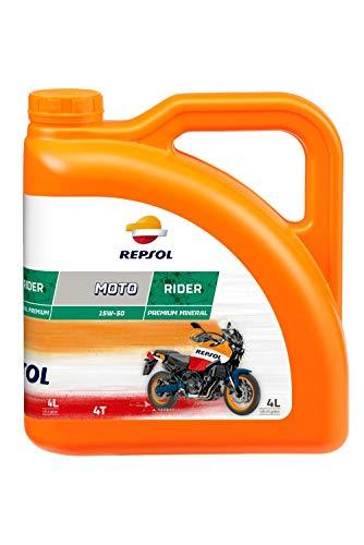 Repsol Moto Rider per Moto 4T 15W50 Olio motore 4 L