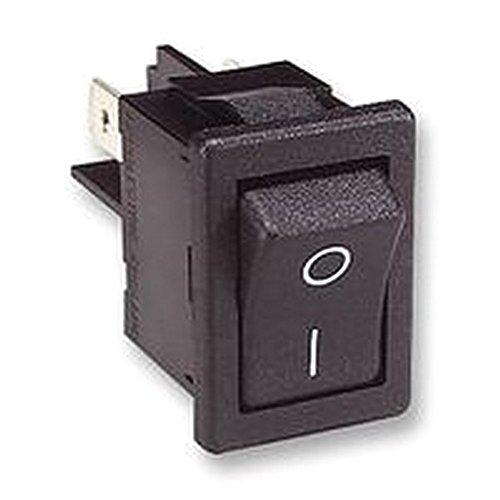Schwarz Rocker Switch (Rocker Switch DPST schwarz/weiß Schalter Rocker)