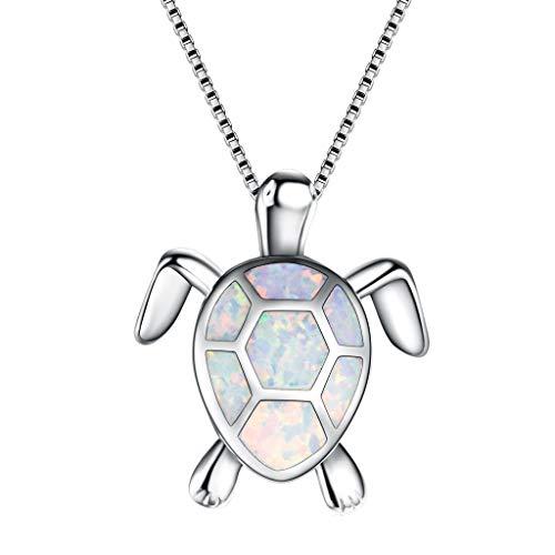 UINGKID Damen Halskette Anhänger Schmuck Frauen Charme niedlichen Pullover Opal Turtle Ornament