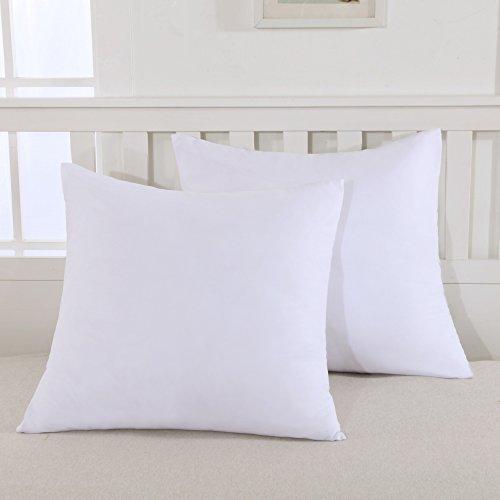 Mohap Lot de 2- Taies D'oreiller 65x65cm Blanc Housse D'oreiller Avec une Fermeture Eclair en Microfib