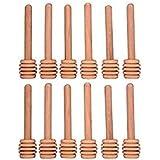 Set de 12Mini madera de varillas para jarra de miel para dispensar llovizna de 3,2pulgadas Miel Miel