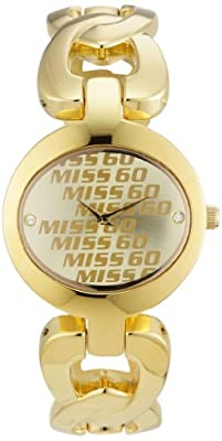 Miss Sixty Just time SR3001 - Reloj de mujer de cuarzo, correa de acero inoxidable color oro
