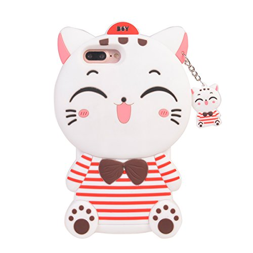 iPhone 7 Plus (5.5 inches) Hülle,COOLKE 3D Fashion Klassische Karikatur weiche Silikon Shell Schutzhülle Hülle case cover für Apple iPhone 7 Plus (5.5 inches) - 018 001