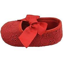 Zapatos bebe, Culater Patucos de Corbata de moño Niñas Niños 0~18 meses