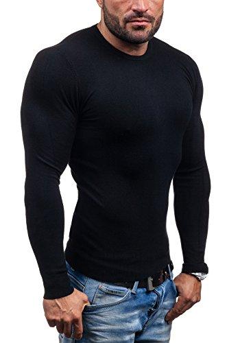 BOLF – Pull - Tricot – Sweatshirt – V-neck - S-WEST 6006 - Homme Noir