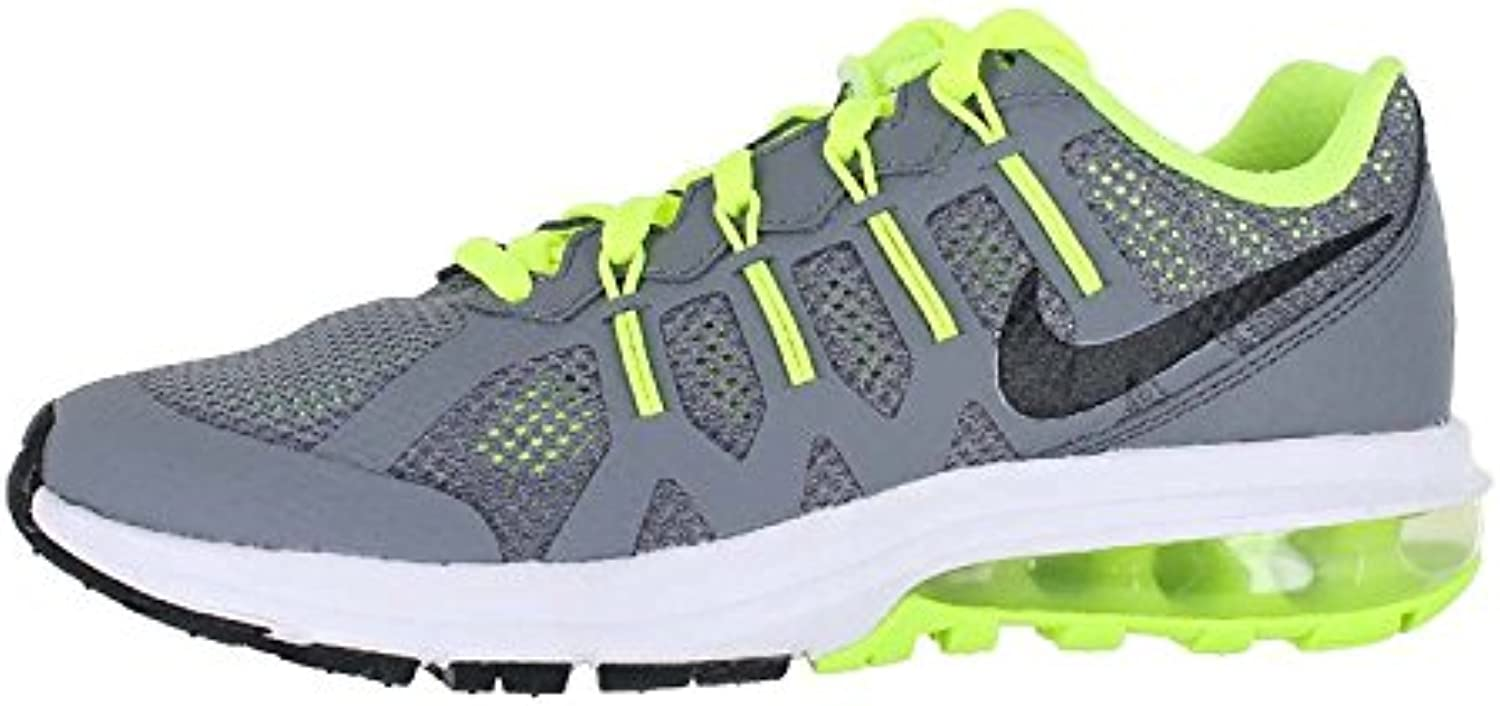 Nike Kids Air Max Dynasty Running Shoes CoolGrey/Black White Volt 5