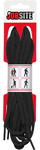 Jobsite Athletic Soft Flex Oval Rund Schnürsenkel-Schuh Saiten für Basketball, Tennis, Track und Running, Black - 1 Pair, 152 cm (Tennis-schuhe Strings)