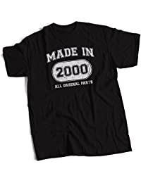 bybulldog Made In 2000 Aged To Perfection 18th Birthday Present Mens Premium T-Shirt Choice Of 12 Colours In Sizes Small To 3X Large