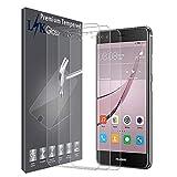 LK Protection écran pour Huawei Nova, [2 Pièces] Verre Trempé [Garantie de Remplacement à Durée de Vie] Screen Protector Film