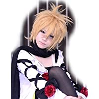 Set simple Kagamine Len vocaloid yellow gold cosplay wig Vocaloid heat CPW206F (japan import)