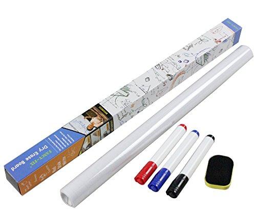 tableau-blanc-autocollant-effacable-a-sec-45cm-x-200-cm-en-rouleau-fourni-avec-3-marqueurs-effacable