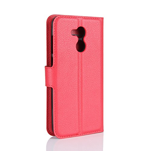 Qiaogle Téléphone Coque - PU Cuir rabat Wallet Housse Case pour Apple iPhone X (5.8 Pouce) - FC04 / Rouge Classique Mode affaires Style FC04 / Rouge Classique Mode affaires Style