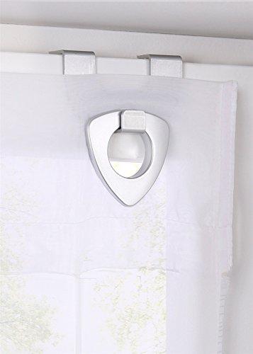 Raffrollo oesenrollo Weiss Transparent Vorhang mit U-Haken B 60cm * H 130cm - 2