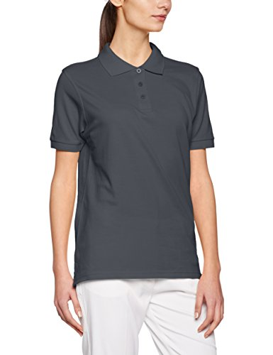 JAMES & NICHOLSON Workwear, Polo Femme Grau (Carbon)