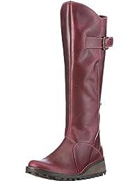 Fly london Mol 2 Purple Leather Womens Knee Hi Boots