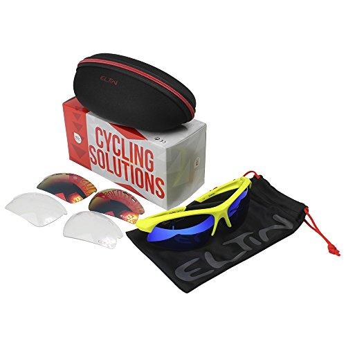 Eltin Drop Gafas Sport, Unisex Adulto, Amarillo / Negro, Talla Única