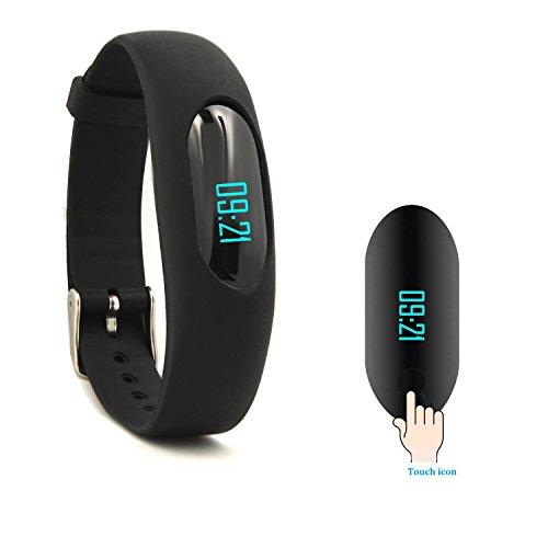 YAMAY Fitness Armband Schrittzähler Armband Fitnessuhr Aktivitätstracker Ohne Bluetooth mit Zeit,Datum,Schrittzähler,Kalorienzähler,Entfernungsrechner,Sport-Zeit,Schlafmonitor Ohne APP Handy (Aufgerüstete Version)
