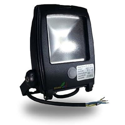 V-TAC LED Fluter Scheinwerfer Strahler 10W mit Bewegungsmelder Weiß 6000K EPISTAR LED-Chip Porshe Design IP65 Gehäuse graphit Ersetzt 240W Hallogenlampe von V-TAC bei Lampenhans.de