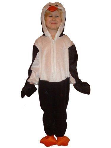 J35 Größe 98-104 Pinguin Kostüm für Kleinkinder und Kinder, bequem über normale Kleidung zu tragen