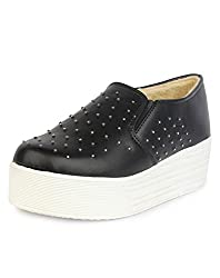 Do Bhai Vam-Stone Smart Casual Canvas Shoes for Women (EU41, Black)