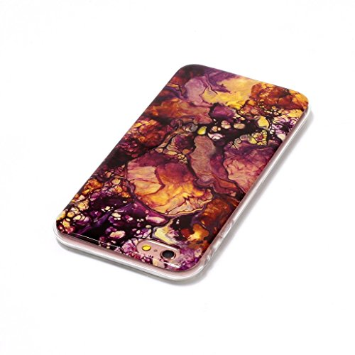 """Coque pour Apple iPhone 6S / 6 , IJIA Texture Marbre Rose TPU Doux Silicone Bumper Case Cover Shell Poids Léger Housse Anti Rayure Anti Choc Etui pour Apple iPhone 6S / 6 (4.7"""") (YH75) YH79"""