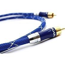 Ricable Ultimate DU1 - 1 metro - Cavo Hi-Fi Audio Digitale Coassiale 75 Ohm RCA. Ottima schermatura e conduttore Solid Core per connessioni digitali e per Subwoofer attivi.