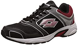 Lotto Mens Stardom Black and Red Running Shoes - 8 UK/India (42 EU)