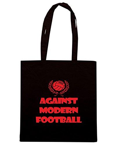 T-Shirtshock - Borsa Shopping WC0177 Against Modern Football Nero