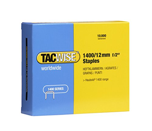 Tacwise 0379 Boîte de 10000 Agrafes galvanisées 12 mm Type 1400