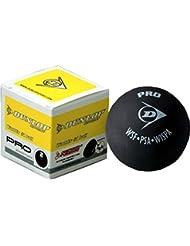 Dunlop Pro 2x amarillo lunares de squash deportes WSF WSA partido jugando y formación bola