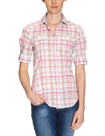 Jacques Britt Damen Bluse, 61.221872 Casual Bluse 1/2 lang, Gr. 40 (M), Mehrfarbig (43 - pink-mint Karo gross)