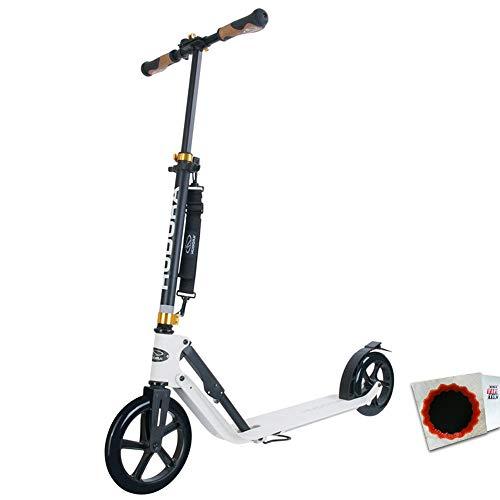 HUDORA City Scoot.Big Wheel Style Alu 9 230/205mm Weiss + Flicken