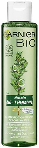 Garnier Bio Thymian Hautperfektionierendes Gesichtswasser, Naturkosmetik, ätherische Öle und Salicylsäure (2 x 150 ml)