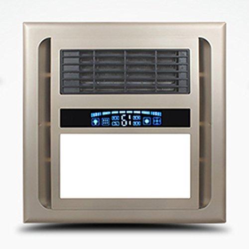 HWF Badezimmer Wärmelampe LED Threeinone Multifunktions Bad Wärmelampe Deckenleuchten Licht Bad Warmluftbelüftung Smart Switch 33 × 33 cm Deckenleuchten ( Farbe : Golden )