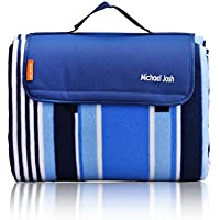 Large Outdoor Picnic Blanket,150 X 135 CM Water-Resistant Handy Mat Tote Great for the Beach,Camping Travelling on Grass Waterproof Sandproof