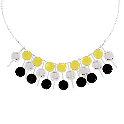 skalli-do07va-jaune-et-noir-smarties-collier-femme-laiton-resine-43-cm