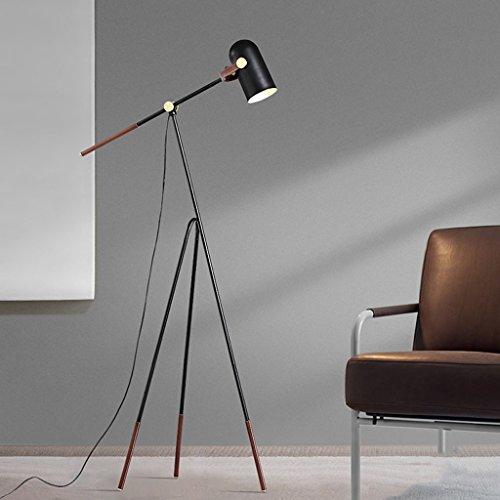 Justierbares Halogen-licht ($stehlampe Nordeuropa-Stehlampe-Schlafzimmer-Wohnzimmer-moderne geführte justierbare Stehlampe (Farbe : Weißes Licht))