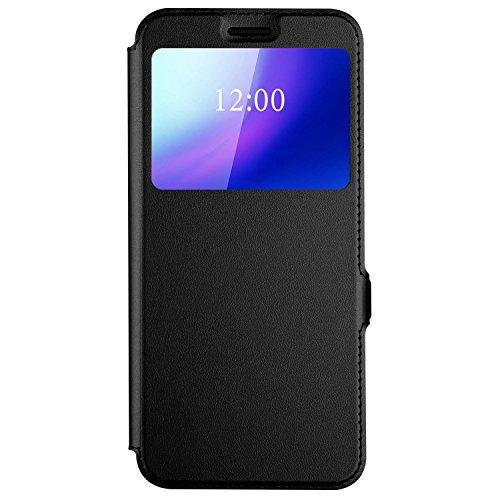 iBetter Cubot X18 Plus Hülle, Flip Cover Case Tasche [Standfunktion] Schutzhülle Hüllen Handyhülle für Cubot X18 Plus Smartphone (Schwarz)