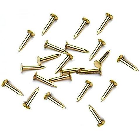 Bulk hardware BH03485 - 10 x 1 mm de mini bisagras de latón pasador (paquete de 100)