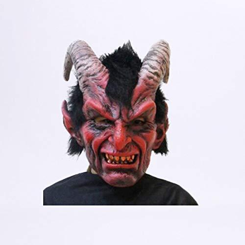 MIANJU@ Halloween Maske Horror Cosplay Geist Schaf Latex Maske Ziege Halloween Maske Gesicht Kostüm Halloween Party Prop Cosplay Kostüm Cosplay