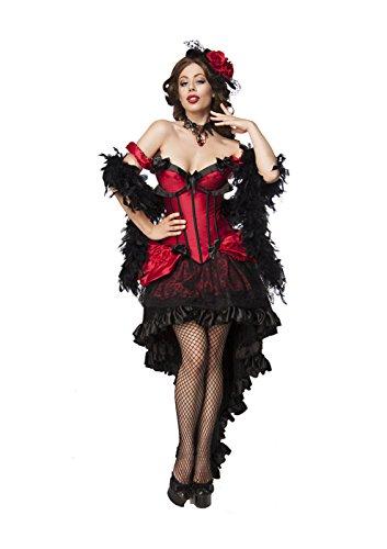 Kostüm Bardame - Mask Paradise Damen Komplettset Moulin Rouge 2XL
