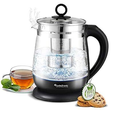 TurboTronic-Glas-Wasserkocher-100-plastikfrei-15-Liter-mit-Edelstahl-Kalkfilter-LED-Beleuchtung-und-Temperaturwahl-BPA-Free