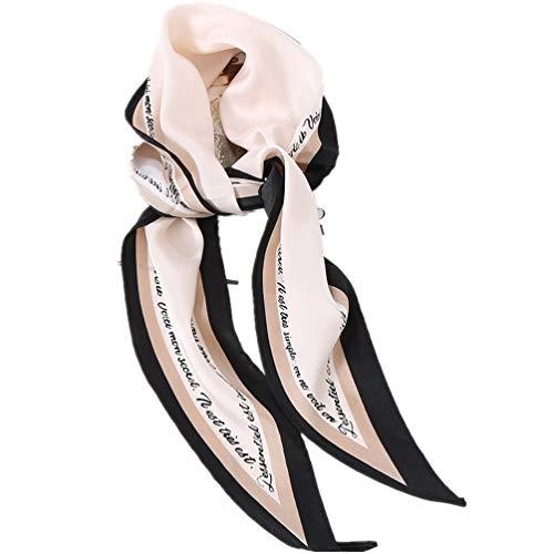 ABsoar Schals Damen Mode Frauen Twill Diamond Square weichen Wrap Schal Crinkle Tuch Schals Damenhalstuch Halsschmuck Brief Schal Dekoration Kopftücher